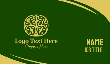 Gold Tree Spa  Business Card
