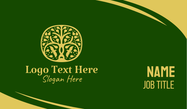 horticulture - Gold Tree Spa  Business card horizontal design