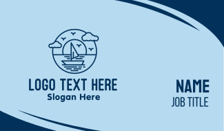 Sailing Ocean Boat Yacht Business Card