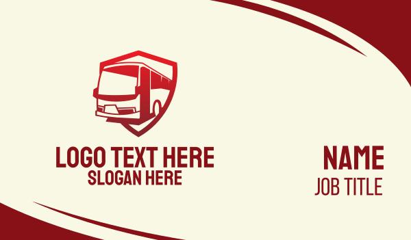 bus company - Red Bus Transport Business card horizontal design
