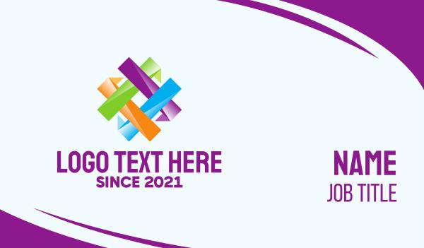 hashtag - Colorful Hashtag Pattern Business card horizontal design