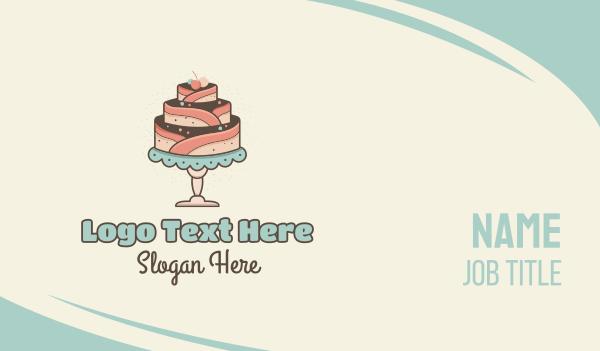 anniversary - Sweet Cake Business card horizontal design