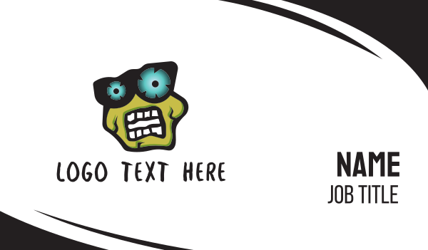 spooky - Zombie Business card horizontal design