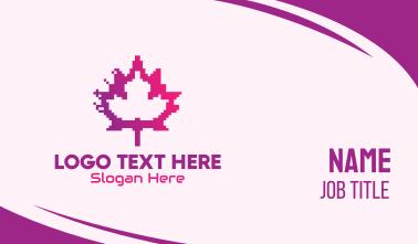 Canadian Gaming  Pixel Leaf Business Card