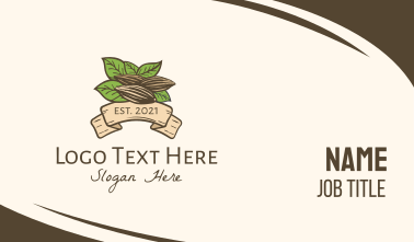 Organic Almond Farm Business Card