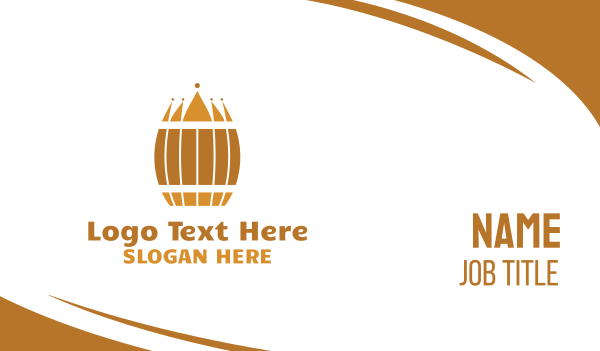 stag party - Barrel Crown Business card horizontal design