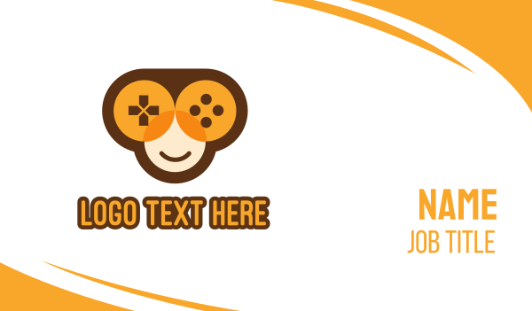 gaming community - Monkey Game Controller Business card horizontal design