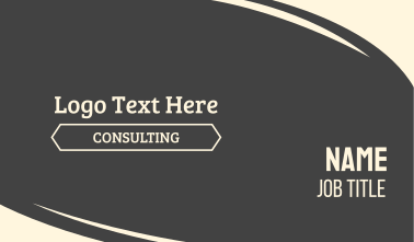 Consulting Text Font Wordmark Business Card