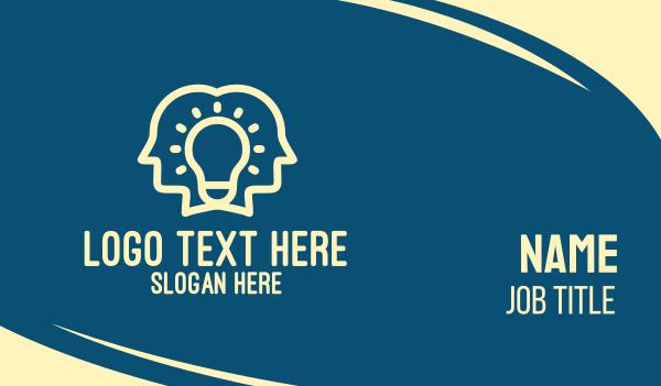 tutorial center - Bright Idea People Business card horizontal design