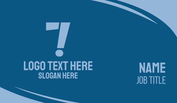 language - Number 7 Exclamation Business card horizontal design