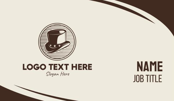 magic - Vintage Men's Hat Business card horizontal design