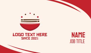Asian Food Bowl Restaurant Business Card
