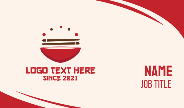 sushi - Asian Food Bowl Restaurant Business card horizontal design