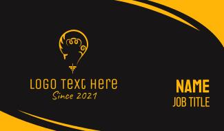 Yellow Light Bulb Business Card