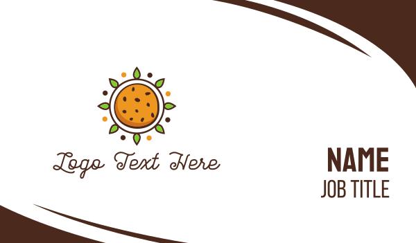 summer camp - Sun Cookie Business card horizontal design