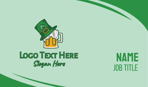 saint patrick - St. Patrick's Day Beer Business card horizontal design