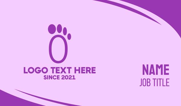 step - Purple Footprint Business card horizontal design