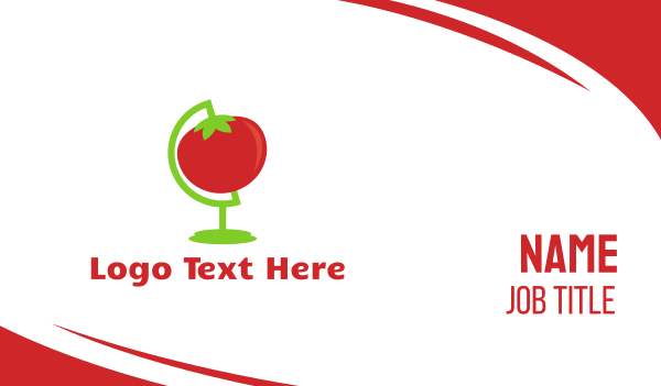 eat - Red Tomato Globe Business card horizontal design
