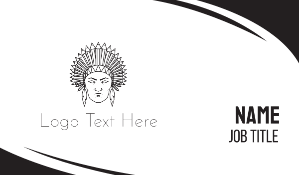 tribal - Native American Business card horizontal design