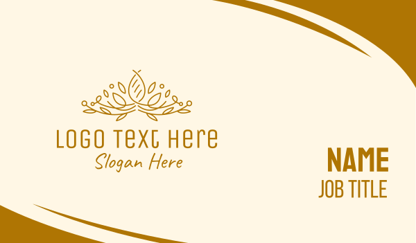 handcrafted - Gold Natural Luxury Business card horizontal design