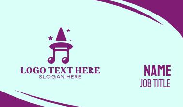 Musical Magic Show Business Card
