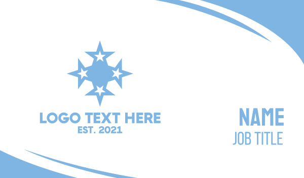 stargazing - Micronesia Star Symbol Business card horizontal design