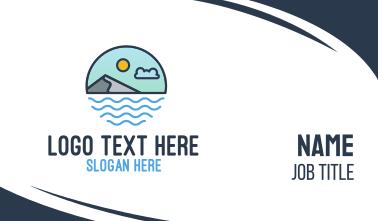 Coastal Sea Mountain Business Card
