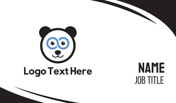 infinite - Super Panda Business card horizontal design