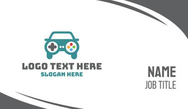 Car Gaming Controller Business Card