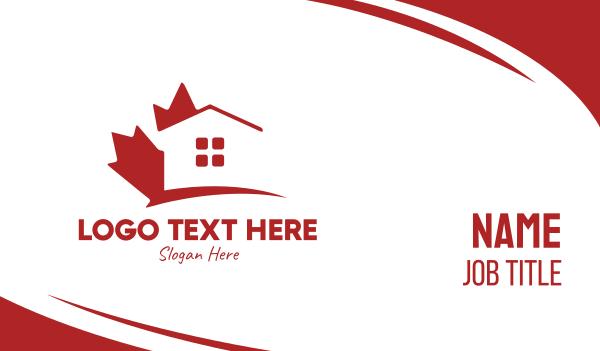 leasing - Canada Maple Housing  Business card horizontal design