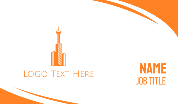monument - Orange Tower Business card horizontal design