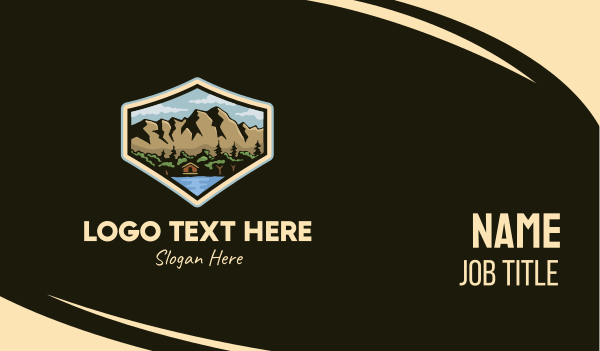 lodge - Outdoor Cabin Lodge Business card horizontal design
