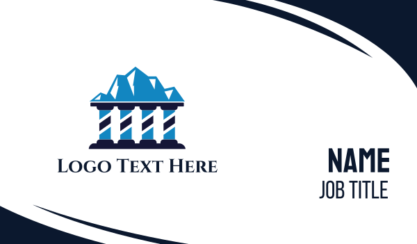 legal services - Justice Mountain Business card horizontal design