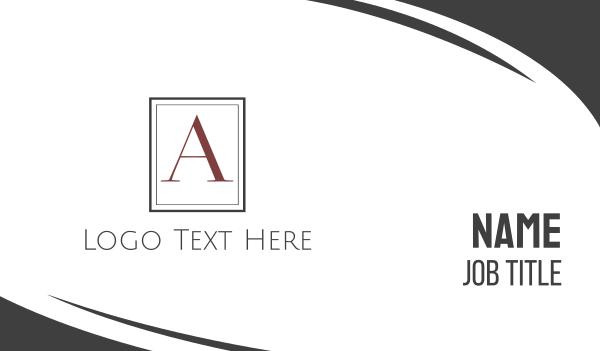 accounting - Elegant Letter A Serif Business card horizontal design