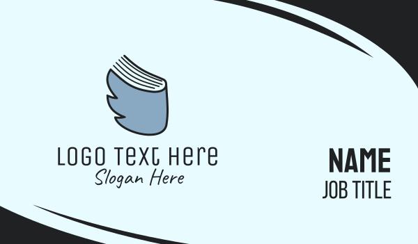 blue bird - Bird & Book Business card horizontal design