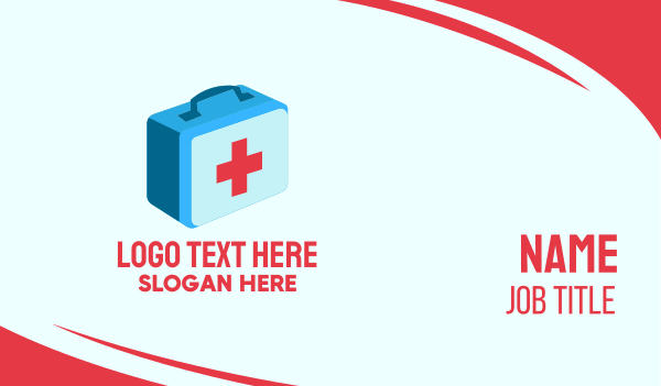 emergency kit - First Aid Medicine Business card horizontal design
