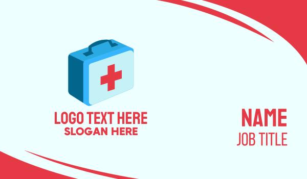 paramedic - First Aid Medicine Business card horizontal design