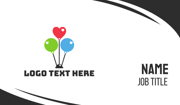 kids party - Balloon Party Business card horizontal design