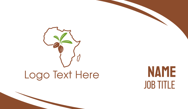 cocoa - African Almonds Business card horizontal design