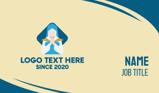 Praying Nun Business Card