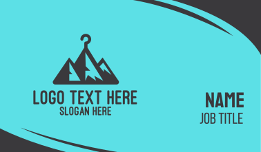 Mountain Clothing Hanger  Business Card
