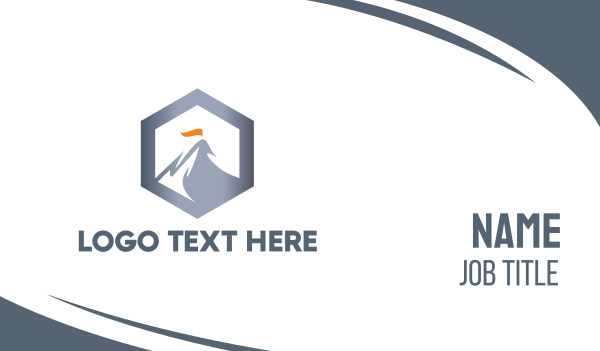 alpine - Hexagon Steel Mountain Business card horizontal design