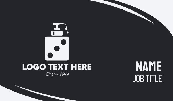 dice - Dice Liquid Soap Business card horizontal design