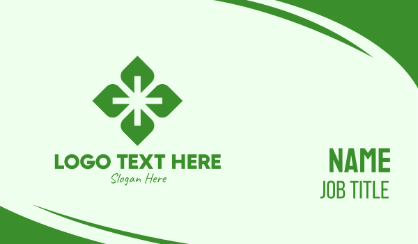 addition - Herbal Health Plus Sign Business card horizontal design