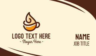 Whipped Cream Coffee Business Card
