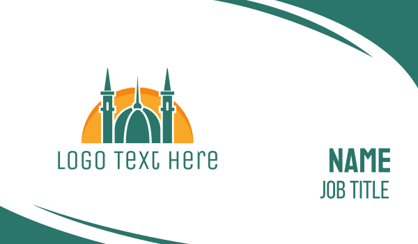 arab - Islamic Religion Business card horizontal design