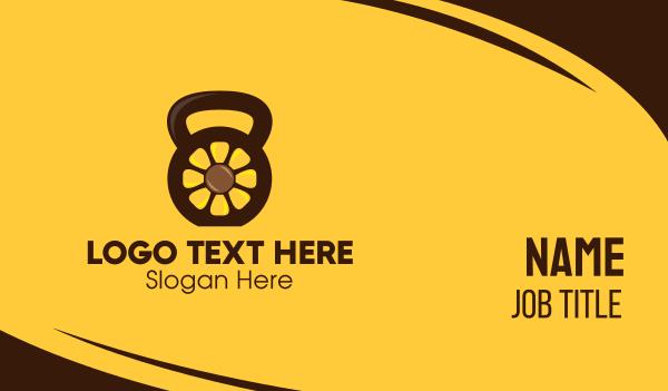 sunflower - Sunflower Kettlebell Business card horizontal design