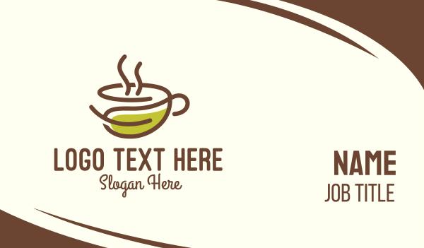 mocha - Organic Herbal Cup Business card horizontal design