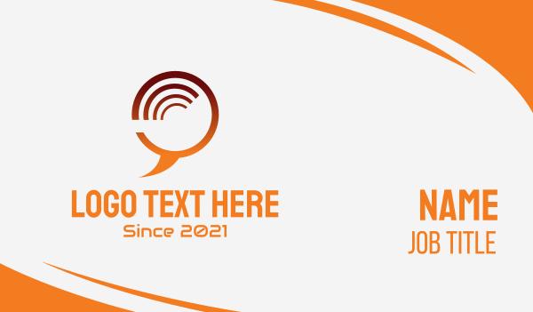 fluent - Tech Chat Bubble  Business card horizontal design