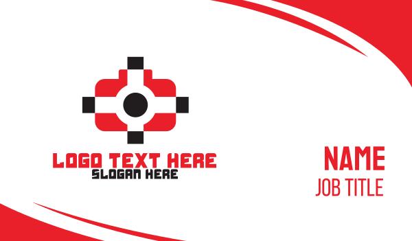 target - Media Target Business card horizontal design